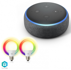 Amazon Echo Dot 3. Generation + 2er Pack Nedis Smartlife LED Lampen für 48,98 € (63,88 € Idealo) @Notebooksbilliger