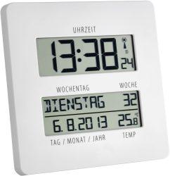 Amazon und Mediamarkt: TFA Dostmann TIMELINE 195 x 195 Digitale Funkuhr mit Temperaturanzeige für nur 10,99 Euro statt 20,93 Euro bei Idealo