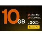 Cyber Weekend Deal bei Congstar: Die Allnet Flat mit 10 GB Daten für nur 20€ mit LTE50