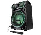 Amazon: MEDION LIFE X64030 Bluetooth Partylautsprecher mit Drum Pads, Mikrofon und LED Lichteffekten für 59,99 Euro statt 82,94 Euro bei Idealo