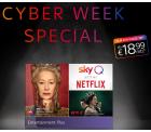 Sky Cyber Week Special mit Entertainment Plus inkl. Netflix ab 18,99 Euro mtl. statt 32,99 Euro mtl.