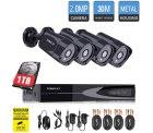 TOROCAT 1080P Überwachungskamera System 4 x 1080P Hochauflösende Wetterfeste HD-Kamera für 100€ statt 199€ dank Gutschein @amazon