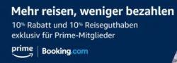 10% bei booking.com auf Gesamtbuchungssumme als Reisegutschein für Prime-Mitglieder (ab 700€ Mind.Buchungssumme)