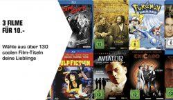 @saturn: 3 Filme aus 130 DVD / Bluray für 10€ inc. Versand