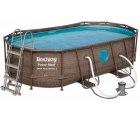 Amazon: Bestway Power Steel Swim Vista Deluxe Frame Pool 424x250x100 cm für 302,99 Euro statt 449,95 Euro bei Idealo