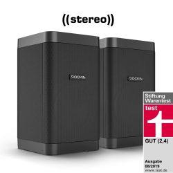 Amazon: DOCKIN D FINE Cubes Stereo Bluetooth Lautsprecher Set für nur 99,95 Euro statt 137,98 Euro bei Idealo