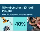Ebay: 10% Rabatt auf Alles für Schrauber und Heimwerker mit Gutschein ohne MBW