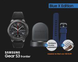 Mediamarkt: SAMSUNG Gear S3 frontier Blue X Edition Smartwatch für nur 179 Euro statt 499 Euro bei Idealo