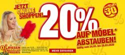 POCO: 20% Rabatt auf Möbel ohne MBW