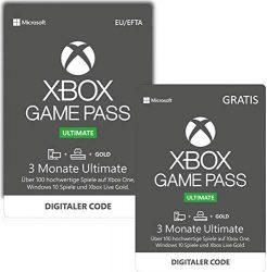Amazon: Xbox Game Pass Ultimate 3 Monate + 3 Monate GRATIS für Xbox One und Windows 10 für nur 38,99 Euro statt 77,98 Euro bei Idealo