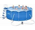 Ebay: Bestway 56420 Schwimmbad mit Rahmen Pumpe Filter E Leiter cm 366×122 für 362,88 Euro statt 477,99 Euro bei Idealo