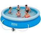 Mömax: Bestway Fast Set Pool Ø 366 x 76 cm mit Filterpumpe für 55,95 Euro statt 69 Euro bei Idealo