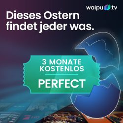 WaipuTV: Perfect Paket mit 135 Sendern (davon 104 in HD) für Neu- und Bestandskunden 3 Monate kostenlos statt 29,97 Euro