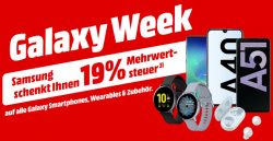 19% MwSt. geschenkt auf Smartphones, Tablets, Wearables, Audio & Zubehör @Media-Markt und Saturn