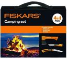 Ebay: Fiskars Camping Set mit Beil X5 + Handsäge SW73 + Universalmesser inkl. Tragetasche für nur 49,90 Euro statt 60,09 Euro bei Idealo
