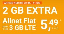 winSIM 3GB, 5GB oder 7GB Datenvolumen, Allnet- und SMS-Flat, monatlich kündbar ab nur 5,49 € (2GB bis 2.6 geschenkt)