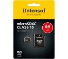 Amazon: Intenso Micro SDXC 64GB Class 10 Speicherkarte inkl. SD-Adapter für nur 7,19 Euro statt 11,64 Euro bei Idealo