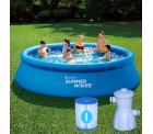 Netto: Summer Waves Quick-Up-Pool Ø 396 x 84 cm mit Filteranlage und Filterkatusche für nur 116,96 Euro statt 182,90 Euro bei Idealo
