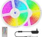 Amazon: 2 mal 5 Meter LED RGB Stripes mit Bluetooth Kontroller Musik Sync mit Gutschein für nur 14,49 Euro statt 28,99 Euro