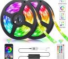 Amazon: 2 x 5 Meter LED RGB Strip mit Musik Sync für nur 19,49 Euro statt 29,99 Euro