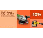 Ebay: 10% Rabatt auf Heimwerker, Garten & Terasse mit Gutschein ohne MBW