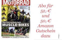 Mein Abo Herbstkampagne z.B. 6 Monate Motorrad für ca. 52€ und 50€ Amazon Gutschein dazu