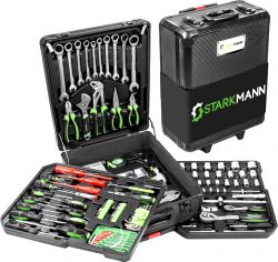 Netto: Starkmann Blackline Premium Alu Werkzeugkoffer 399 tlg. für nur 97,46 Euro statt 144,44 Euro bei Idealo