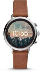 Amazon: Fossil Damen Smart Watch mit Leder Armband FTW6014 für nur 99 Euro statt 179 Euro bei Idealo