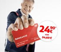 Bahn.de: Nur im Oktober BahnCard 25 jetzt nur noch 24,90 Euro statt 54,60 Euro
