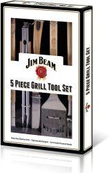 Amazon und Real: Jim Beam Grillbesteck Geschenkbox Parawood 5-teilig für nur 29,99 Euro statt 41,03 Euro bei Idealo