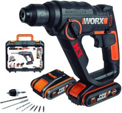 Amazon: WORX WX390.1 Akku Bohrhammer SDS-plus mit 2 Akkus, Ladegerät und Koffer für nur 97,99 Euro stat 158,99 Euro bei Idealo