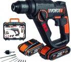 Amazon: WORX WX390.1 Akku Bohrhammer SDS-plus mit 2 Akkus, Ladegerät...