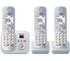 Amazon: PanasonicKX-TG6823GS 3 Mobilteile DECT Schnurlostelefon mit Anrufbeantworter für nur 45 Euro statt 65,85 Euro bei Idealo