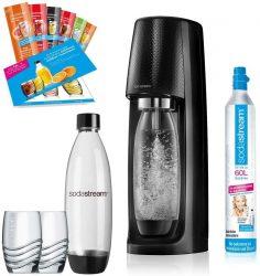 Amazon: SodaStream Easy Wassersprudler-Set Promopack mit CO2-Zylinder, 2x 1 L PET-Flasche, 2x Trinkgläser, 6x Sirupproben für nur 49,99 Euro statt 62,31 Euro bei Idealo