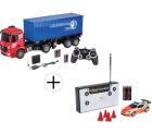 Mediamarkt Preisfehler: CARSON 1:20 MB Arocs mit Container + CARSON 1:60 Nano Racer Feuerwehr für nur 47,98 Euro statt 84,86 Euro bei Idealo