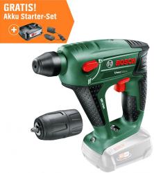OBI: Bosch Akku-Bohrhammer Uneo Maxx 18 V Solo + Bosch Akku Starter-Set mit 18 V 2,5 Ah Akku und Ladestation für nur 94,99 Euro statt 137,22 Euro bei Idealo