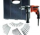 Poco: Black & Decker Schlagbohrmaschine KR806OA-QS inkl. Koffer + 40-tlg. Zubehör-Set für nur 66,49 Euro statt 94,89 Euro bei Idealo