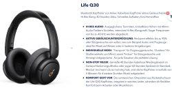 Soundcore Life Q30 ANC Kopfhörer 56€ statt 79€ (Idealo) durch Gutschein @soundcore.com
