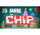Chip: Zum 25. Jubiläum jeden Tag eine Vollversionen gratis zum downloaden