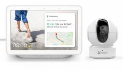 Google Nest Hub Smart Display mit Sprachsteuerung + EZVIZ C6CN FHD Überwachungskamera für 99 € (144,60 € Idealo) @Tink