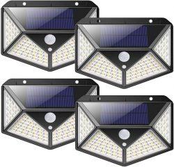 Amazon: 4 Stück Nuosife Solarlampen mit Bewegungsmelder mit Gutschein für nur 18,19 Euro statt 25,99 Euro