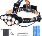 Amazon: Hezue Superheller Wiederaufladbare 8 LED Stirnlampe mit Gutschein...