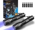 Amazon: LETION 2 in 1 LED Taschenlampe mit UV Schwarzlicht mit Gutschein für nur 7,99 Euro statt 15,99 Euro