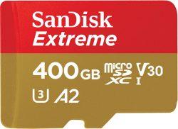Amazon und Saturn: SanDisk Extreme microSDXC UHS-I Speicherkarte 400 GB + Adapter & Rescue Pro Deluxe für nur 48 Euro statt 69,98 Euro bei Idealo