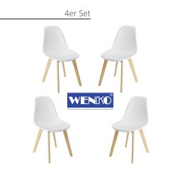 Wenko Esszimmer-Schalen-Stühle Sala 4er Set für 74,99€ statt PVG  laut Idealo 99,99€ @kaufland