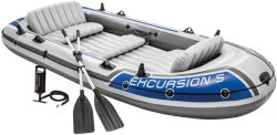 Amazon: Intex Excursion 5 Schlauchboot für 5 Personen mit 2 Paddeln und Luftpumpe für nur 156,34 Euro statt 198,99 Euro bei Idealo