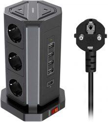 Amazon: NVEESHOX Steckdosenleiste mit 9 Steckdosen und 5 USB Anschlüssen mit Gutschein für nur 23,72 Euro statt 33,89 Euro