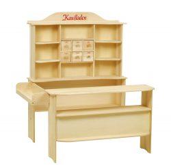 roba Kaufladen, großer Kinder Kaufmannsladen Holz natur für 95,99€ statt PVG laut Idealo 120,08€ @amazon