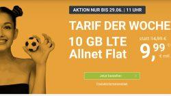 @winsim: EM Angebot 10 LTE Allnet nur 9,99€ (sonst 14,99€) monatlich kündbar!