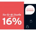 Tchibo: Nur heute für 16 Stunden 16% Rabatt auf ausgewählte Artikel mit Gutschein ohne MBW